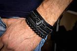 Браслет кожаный мужской mod.S-man комплект, фото 5