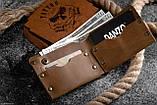Мужской кожаный кошелек ТатуНаКоже, морской волк, фото 3