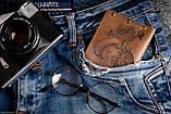 Мужской кожаный кошелек ТатуНаКоже, морской волк, фото 4