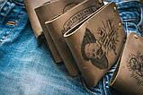 Мужской кожаный кошелек ТатуНаКоже, морской волк, фото 5