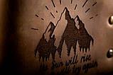 Чоловічий шкіряний гаманець ТатуНаКоже, світанок, фото 2