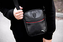 Мужская кожаная сумка через плечо Puma RV