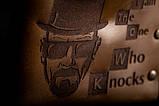 Мужской кожаный кошелек ТатуНаКоже, Во все тяжкие Хайзенберг, фото 2