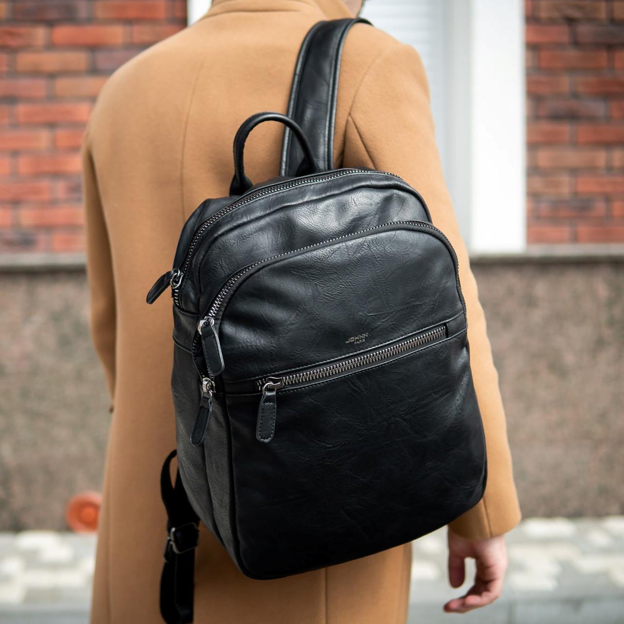Рюкзак кожаный JHONNY LOCKER портфель