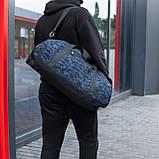 Мужская спортивная сумка G-TOWN синяя, фото 5
