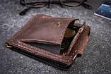 Зажим для денег с монетницей кожаный mod.Pocket коричневый, фото 4
