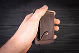 Зажим для денег с монетницей кожаный mod.Pocket коричневый, фото 7