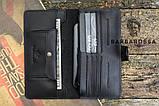 Портмоне клатч мужской Long Wallet MenStuff BLACK, фото 5