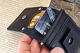 Зажим для денег кожаный mod.Stayer black с монетницей, фото 7