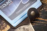Визитница для кредитных карт mod.Drop коричневая, фото 5