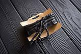 Браслет кожаный мужской mod.WingSet чёрный, фото 3