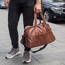 Сумка шкіряна коричнева чоловіча mod.RollingStone дорожня