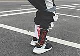 Высокие мужские носки с принтом Cocaine, White, фото 5
