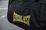 Спортивная черная мужская сумка Everlast yellow, фото 2