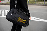 Спортивная черная мужская сумка Everlast yellow, фото 7