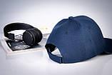 Кепка бейсболка мужская NoName без брендов синяя, фото 3
