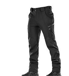 M-Tac брюки зимние черные софтшел Soft Shell Winter Black