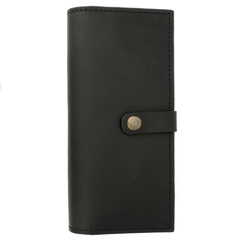Кошелек мужской кожаный большой Handycover HC0046 черный