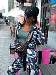 Женский брючный костюм милитарми с мастеркой на молнии и штанами джоггерами vN9698, фото 3