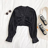 Женская укороченная блуза с длинными рукавами vN9767, фото 2