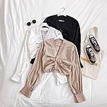 Женская укороченная блуза с длинными рукавами vN9767, фото 5