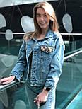 Женская джинсовая куртка с декором на кармане vN9770, фото 3