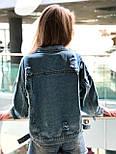 Женская джинсовая куртка с декором на кармане vN9770, фото 4