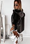 Демисезонная женская куртка с рукавами из трехнитки, с капюшоном и на молнии vN9914, фото 6