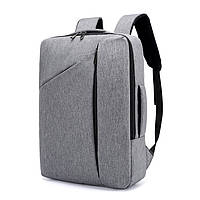 """Сумка-рюкзак, трансформер для ноутбука 15,6"""" противоударный, серый цвет ( код: IBN014S )"""
