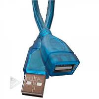Удлинитель - переходник USB Parrot 1607 AM / AF, 3m, синий, шнур USB, переходники, Кабель, Кабель переходник