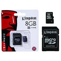 Карта пам'яті MicroSD KINGSTON 8GB (c адаптером)
