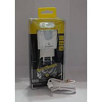 Сетевое зарядное устройство iPhone Solofer TC-05 кабель usb, 2USB/ligting, 5V, 2,4А, белый, з/у для iPhone,