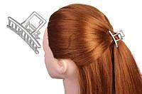 Металлическая заколка-краб Alkanna для волос в стиле минимализм, серебристая, зажим для волос, краб для волос