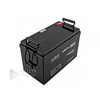 Аккумулятор для техники AGM LPM свинцово-кислотный, 12В, 100 А/ч, черный, аккумуляторная батарея, аккумулятор