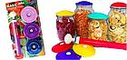 Вакуумные крышки для консервации и долгого хранения продуктов ВАКС | Набор для вакуумного консервирования 9 шт, фото 4