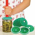 Вакуумные крышки для консервации и долгого хранения продуктов ВАКС | Набор для вакуумного консервирования 9 шт, фото 6