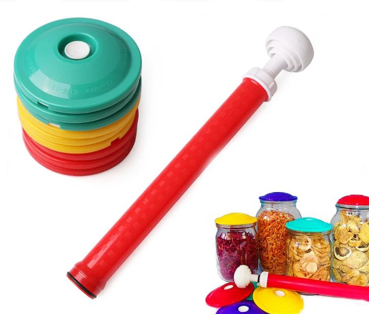 Вакуумные крышки для консервации и долгого хранения продуктов ВАКС | Набор для вакуумного консервирования 9 шт
