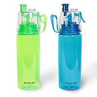 Спортивна пляшка для води пластикова 570 мл, фото 1