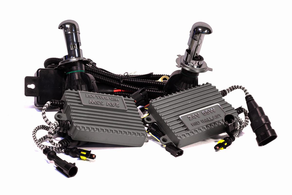 Комплект биксенона КВАНТ H4 6000К 24v с блоками AC
