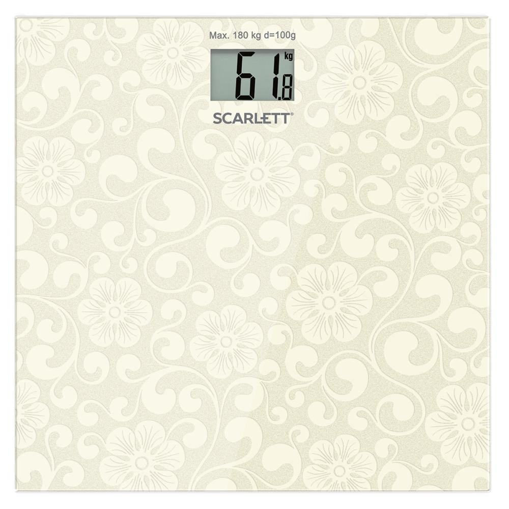 Весы напольные электронные Scarlett SC-BS33E043 максимальный вес 100 кг