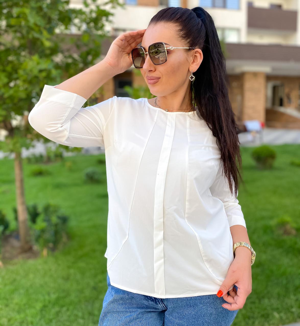 Женская батальная блуза