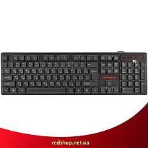 Клавіатура HK-6300 TZ + мишка - ігровий комплект дротова клавіатура для ПК з кольоровою RGB підсвіткою + миша, фото 2