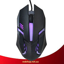 Клавіатура HK-6300 TZ + мишка - ігровий комплект дротова клавіатура для ПК з кольоровою RGB підсвіткою + миша, фото 3