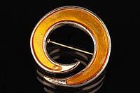 Декоративная металлическая брошь для одежды Bloomeria золото/желтая, брошь для украшения, брошь металлическая, фото 1