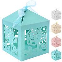 (Цена за 50шт) Бонбоньерка (коробочка для конфет) Jasmine N00492 в упаковке 50 шт, 6*6*6см, бонбоньерки,