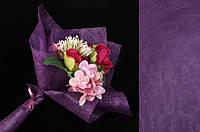 Папір флізелінова сизофлор для упаковки квітів Acanthus ціна за 20шт, 70х50см, фіолетова, флізелінова папір,, фото 1