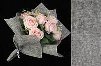 Флизелиновая бумага Alyxia для упаковки цветов, серая, 20шт, 60х53см, 250г, бумага для упаковки, флизелиновая