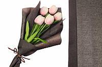 Флизелиновая бумага Alyxia для упаковки цветов, коричневая, 20шт, 60х53см, 250г, бумага для упаковки,