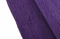 Рулон креп бумаги для оформления декора Темно-фиолетовая 2,5х0,5м, 70 г/м2, оберточная креп-бумага,