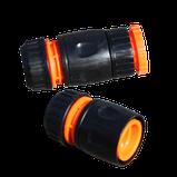 ШЛАНГ поливной БЫТОВОЙ РЕЗИНОВЫЙ НИЗКОГО давления диаметром 19мм длиной с комплектом насадок, фото 2